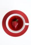 Tè della fragola fotografie stock