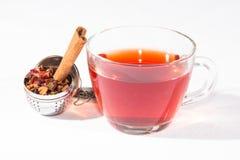 Tè della frutta con l'uovo e la cannella del tè Immagini Stock Libere da Diritti