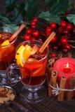 Tè della frutta o del vin brulé fotografia stock