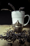 Tè della lavanda Immagini Stock Libere da Diritti