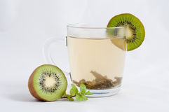 Tè della menta con il kiwi Fotografia Stock