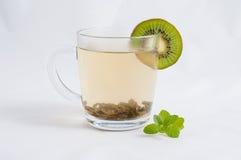 Tè della menta con il kiwi Fotografia Stock Libera da Diritti