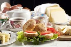 Tè della prima colazione Immagine Stock