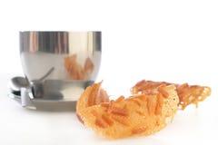 tè della tazza dei biscotti Immagini Stock Libere da Diritti