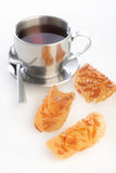 tè della tazza dei biscotti Fotografie Stock