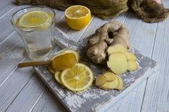 Tè dello zenzero con il limone ed il miele Fotografia Stock Libera da Diritti