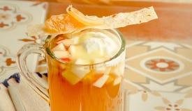 Tè di Apple con gelato Fotografia Stock