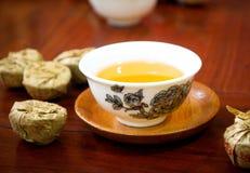 Tè di cinese di Puer Fotografia Stock Libera da Diritti