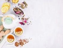 Tè di erbe sano Antiossidante, disintossicazione e bevanda di rinfresco fotografie stock