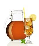 Tè di ghiaccio con il limone Fotografia Stock