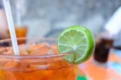 Tè di ghiaccio del limone Immagini Stock Libere da Diritti