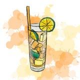 Tè di ghiaccio di Long Island del cocktail Fotografie Stock Libere da Diritti
