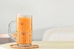 Tè di ghiaccio tailandese Fotografia Stock