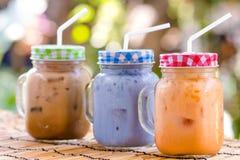Tè di ghiaccio tailandese del latte Fotografie Stock Libere da Diritti