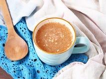 Tè di mattina con aloe vera Fotografie Stock