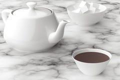 Tè di mattina nel silenzio royalty illustrazione gratis