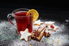 Tè di Natale fotografie stock libere da diritti