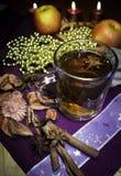Tè di Natale con le spezie Immagine Stock