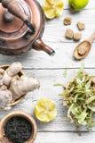 Tè di tosse di inverno Fotografie Stock