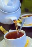 Tè dorato Fotografia Stock Libera da Diritti