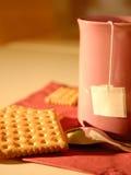 Tè e biscotti Immagine Stock