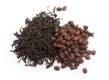 Tè e caffè fotografie stock