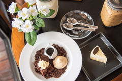 Tè e caffè di pomeriggio del dessert Fotografia Stock