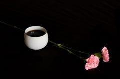 Tè e fiori Fotografia Stock