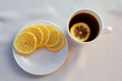 Tè e limone Fotografia Stock