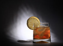 Tè e limone ghiacciati Fotografia Stock