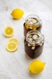 Tè e limoni di ghiaccio Immagine Stock