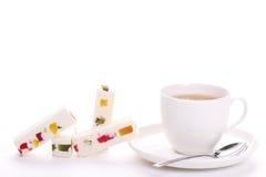 Tè e loukoum di freschezza del gelsomino Immagine Stock