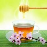 Tè e miele Immagini Stock Libere da Diritti