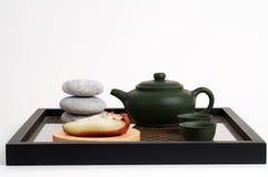 Tè e spuntino asiatici di zen Immagini Stock