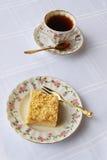 Tè e torta Fotografie Stock