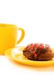 Tè e torta Immagine Stock