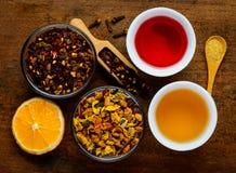 Tè ed ingredienti Fotografie Stock
