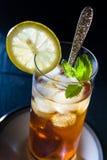 Tè ghiacciato con la menta ed il limone fotografia stock