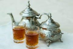 Tè marocchino fotografie stock libere da diritti