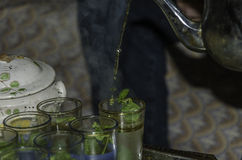 Tè marocchino della menta Fotografia Stock Libera da Diritti