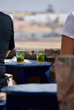 Tè marocchino della menta fotografie stock libere da diritti