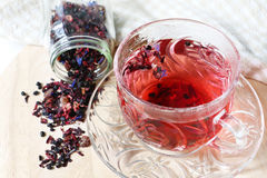 Tè misto della bacca con l'uva passa Immagine Stock