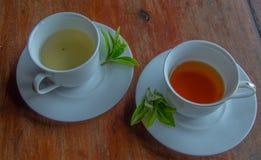 Tè nero e verde Fotografia Stock Libera da Diritti