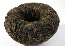 Tè nero Puerh (Puer) Immagine Stock