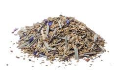 Tè paraguaiano del compagno con l'aggiunta del monarda dei fiori immagini stock libere da diritti