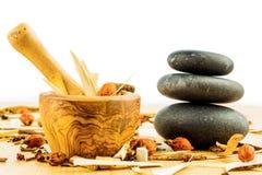 Tè per la medicina di cinese tradizionale Immagini Stock