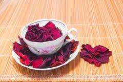 Tè rosa secco Fotografia Stock