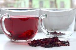 Tè rosso dell'ibisco fotografie stock libere da diritti
