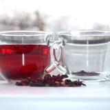 Tè rosso dell'ibisco fotografia stock