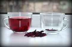 Tè rosso dell'ibisco immagini stock